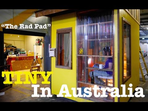 "A TINY HOUSE Battered Women Shelter in Australia (""The Rad Pad"")"