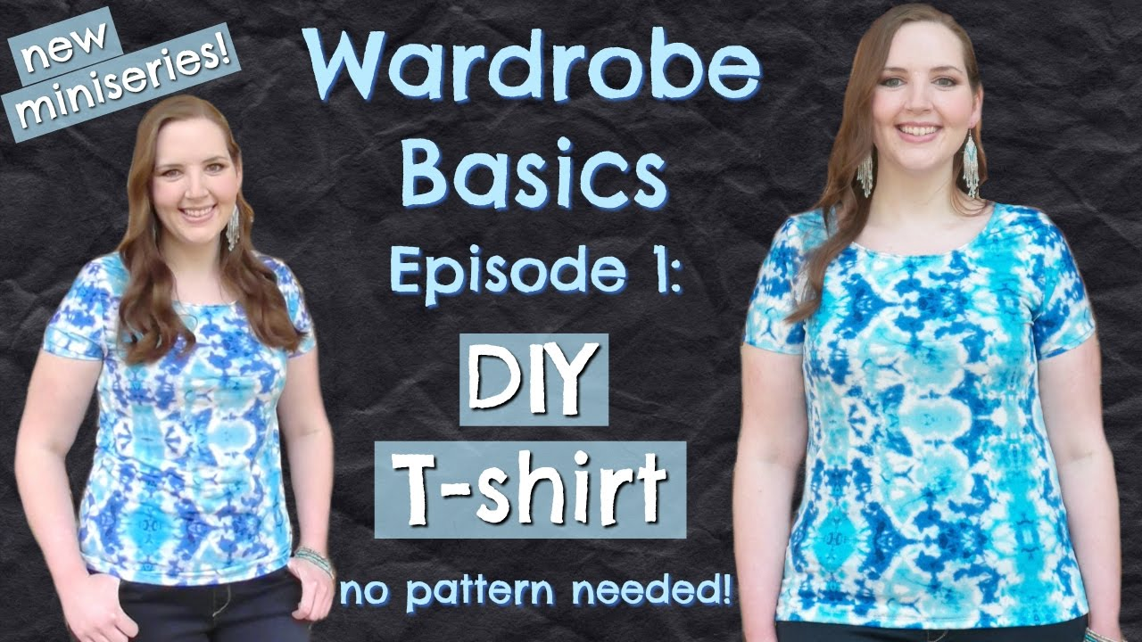 Diy easy t shirt no pattern how to sew clothes without a how to sew clothes without a pattern wardrobe basics ep 1 jeuxipadfo Image collections