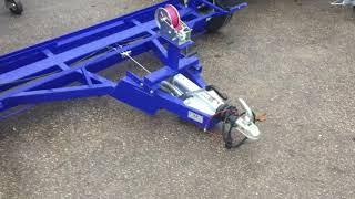Прицеп для перевозки авто методом частичной погрузки с инерционным тормозом
