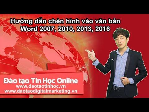 Hướng dẫn chèn hình vào văn bản Word 2007, 2010, 2013, 2016 - Daotaotinhoc.vn