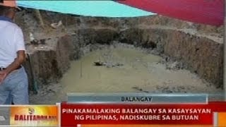 BT: Pinakamalaking balangay sa kasaysayan ng Pilipinas, nadiskubre sa Butuan