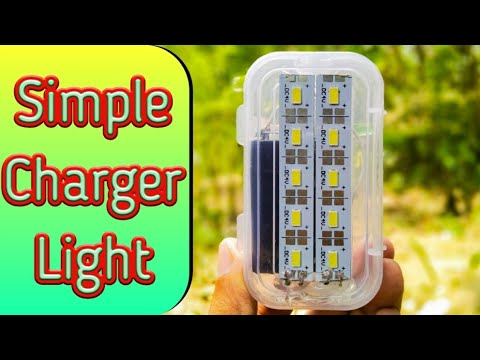 How To Make A Charger Light || Emergency Light || By Es Tech Knowledge