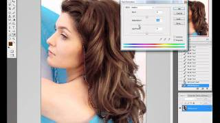 photoshop - change hair color Thumbnail