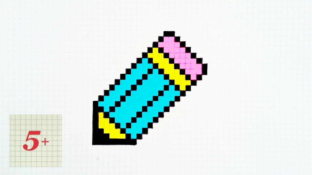 картинки карандашом по клеткам
