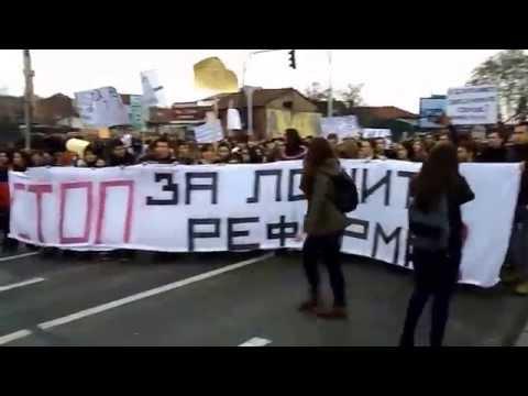 Students Protest in Skopje, 10-XII-2014