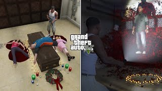 What Happens If You Kill Michael's Family During The Scary Ritual in GTA 5? (Haunted Scene)