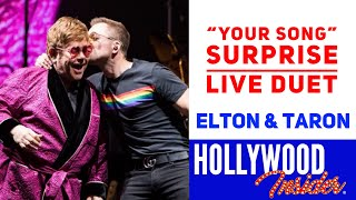 "Watch a surprise LIVE duet ""Your Song"" from Elton John & Taron Egerton at Farewell Tour in Hove, UK"
