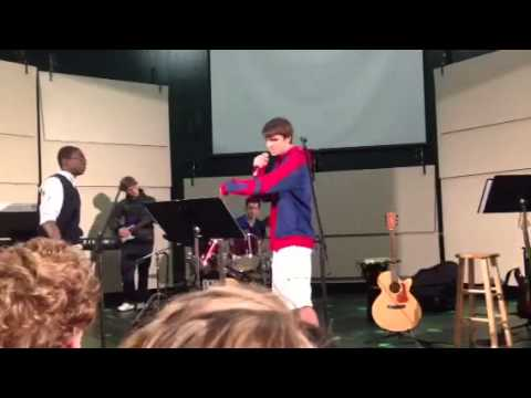 Rapping at Calvary Christian school