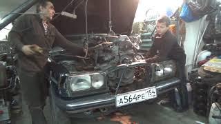 Установка двигателя М 123 2.5 в Мерседес 123 .