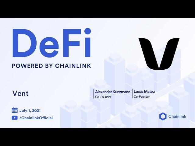 Vent Finance on Chainlink Live   Cardano Ecosystem IDO Platform