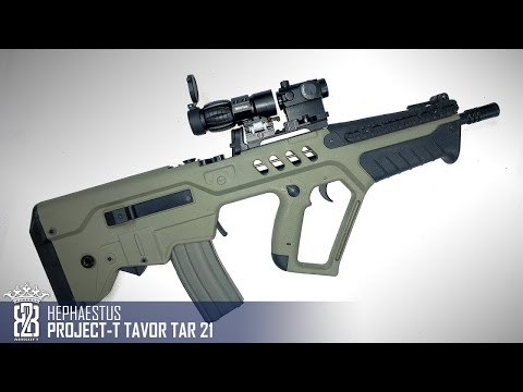 *Airsoft Review * Hephaestus Project T  Tavor TAR21  | Deutsch - English Subtitle