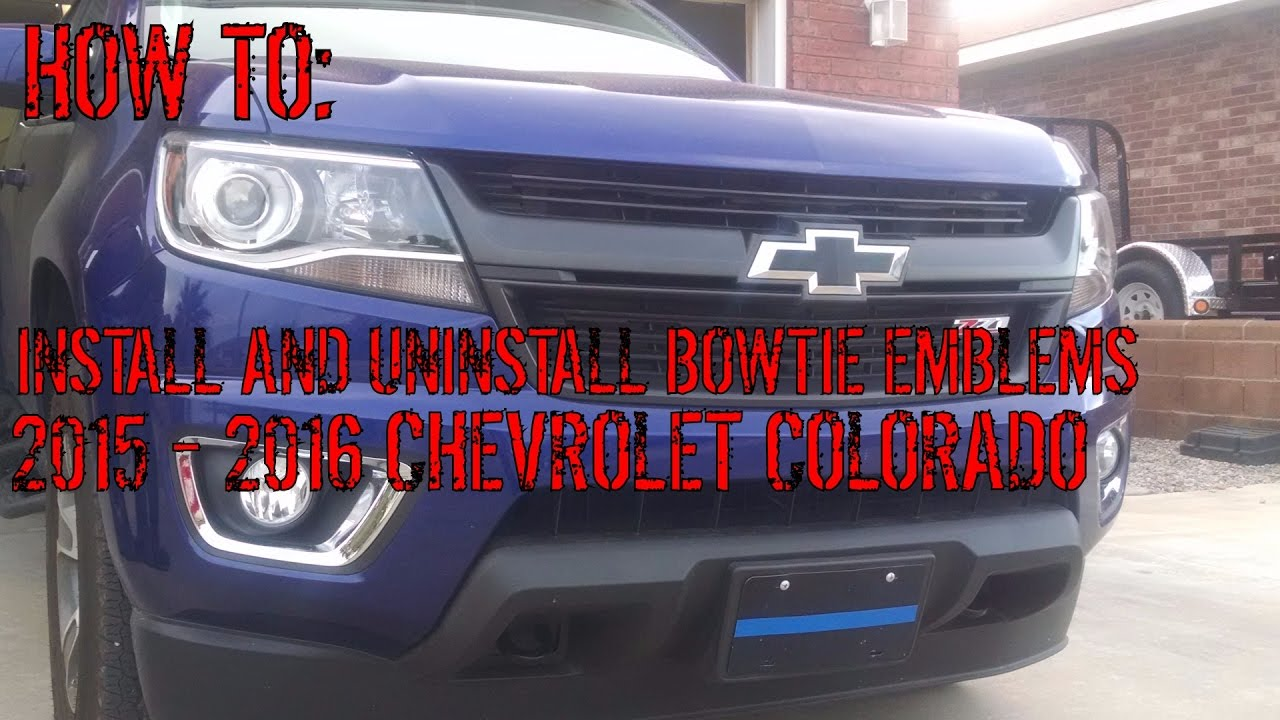 All Chevy black chevy emblems : How-To: Install And Uninstall Bowtie Emblems On 2015 - 2017 ...