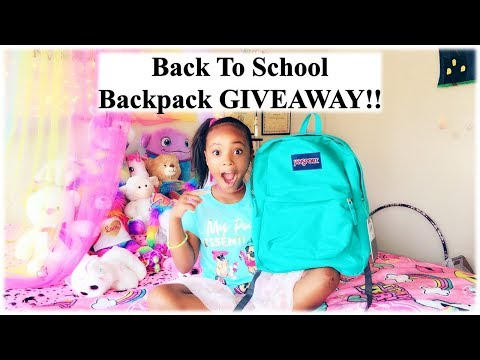 Back to Shool Backpack GIVEAWAY!!!