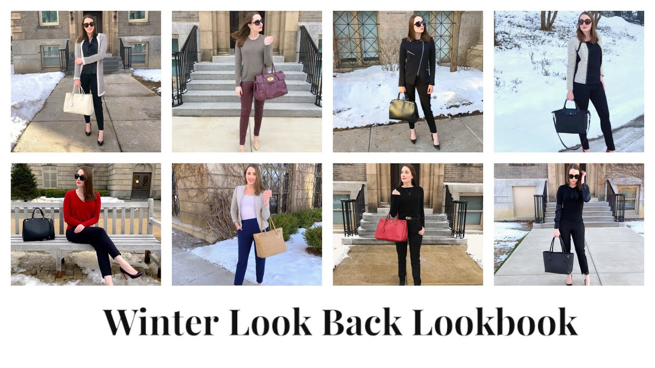 [VIDEO] - Winter Look Back Lookbook | What I Actually Wore To Work | Business and Office Outfit Inspo 8