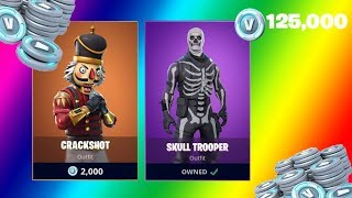 EPIC FORTNITE SHOPPING SPREE BUYING THE SKULL TROOPER AND CRACKSHOT! l WITH V-BUCK GIVEAWAY