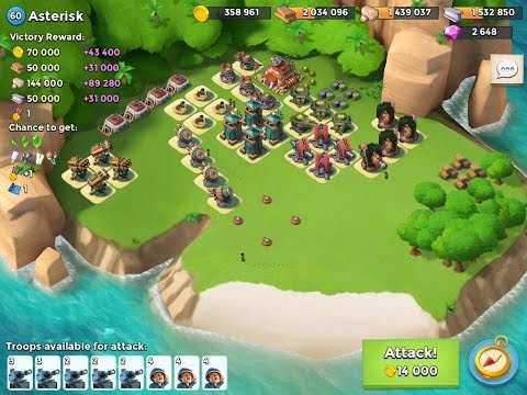 """ASTERISK"" LVL 60 - TMED - NO LOSS - Boom Beach"