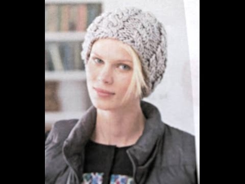 How to Knit Cable Hat using DPN'S (Lion Brand Pattern) Video 1