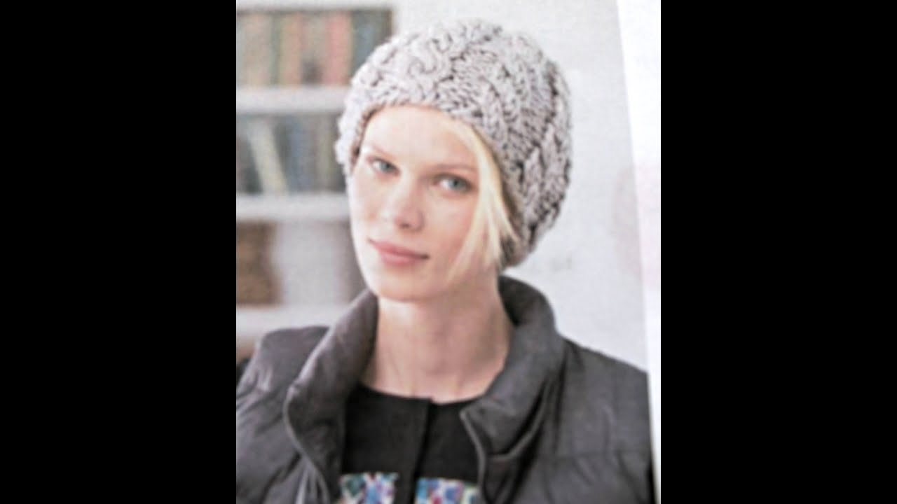 Knit Cable Hat Using Dpn S Lion Brand Pattern Video 1