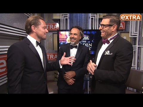 Leo DiCaprio & Alejandro González Iñárritu on Their Golden Globe Wins for 'The Revenant'