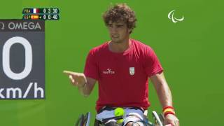 Wheelchair Tennis | S.HOUDET v D.AVERSASCHI | Men's Singles Third Round | Rio 2016 Paralympic Games thumbnail