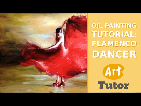Oil Painting Tutorial: Flamenco Dancer thumbnail