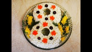 Салат на 8 МАРТА рецепт салата Салат на ПРАЗДНИЧНЫЙ стол Салат на ПРАЗДНИК