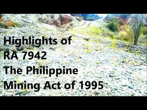 RA 7942 The Philippine Mining Act Of 1995