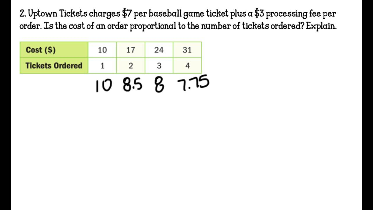 medium resolution of Lesson 1.4 Proportional \u0026 Nonproportional Relationships - YouTube