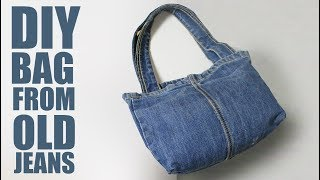 DIY Tote Bag from Jeans - Old Jeans Bag Ideas