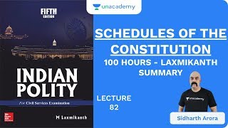 L82: Schedules of The Constitution | 100 Hours - Laxmikanth Summary | UPSC CSE 2020 | Sidharth Arora