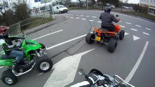 Quad Tour zu 4 an der stadt :)