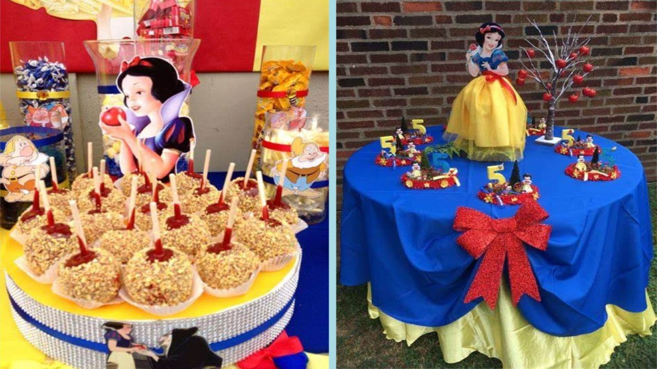 50 Snow White Theme Birthday Party Decoration Ideas At Home For Kids Youtube