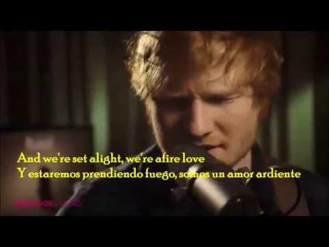Ed Sheeran-  Afire Love traducida lyrics acoustic LIVE HD