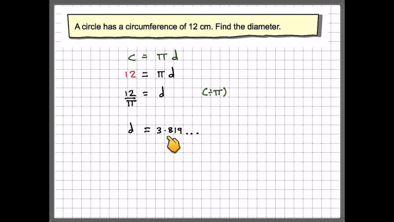 small resolution of Circumference of a circle (solutions