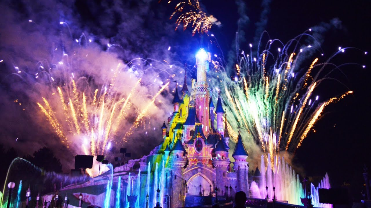 disney dreams! spectacular night time full show - hd at disneyland