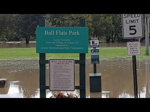 Major Flooding At The Balls Flats In Greene, New York