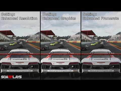 Project CARS 2 Graphics Comparison (Enhanced Resolution vs Enhanced Graphics vs Enhanced Framerate)