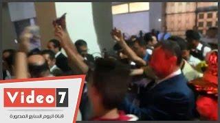 الخطيب يغادر استاد القاهرة فى حراسة الشرطة