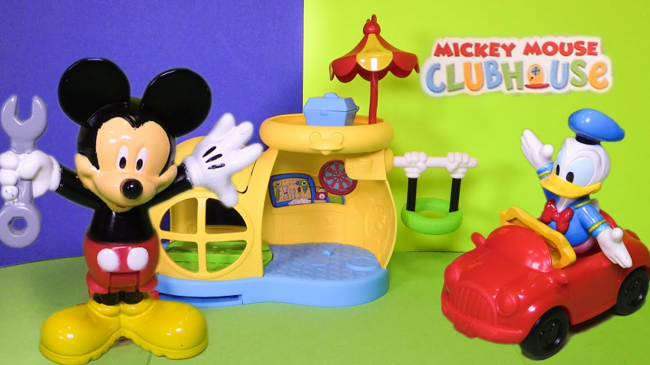 Unboxing the Mickey Mouse Garage with Donald Duck Toys - YouTube