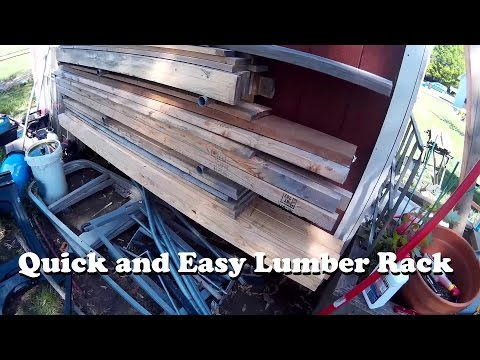 Quick Lumber Rack (Made of pallet wood, of course)