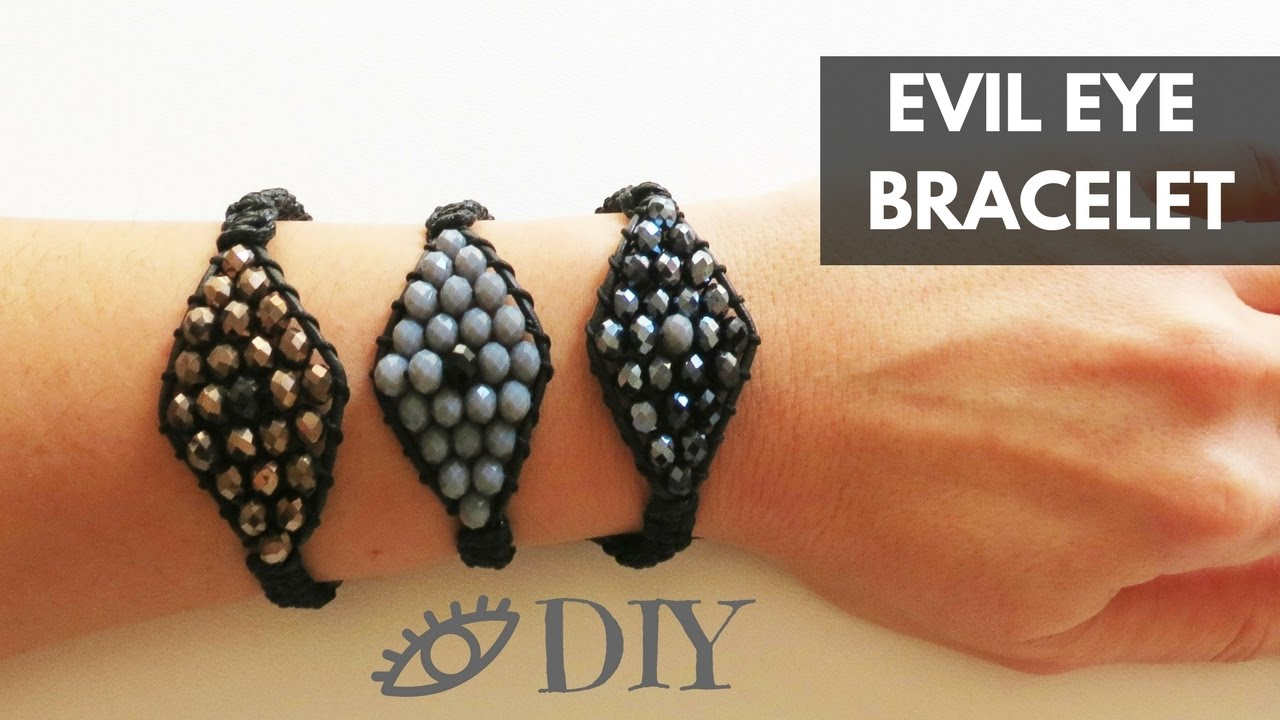 DIY Evil Eye Bracelet  edf89fe9283