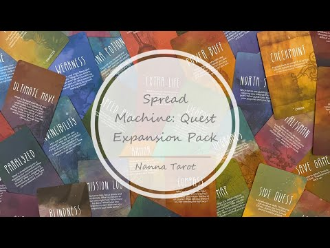 開箱  探索補充卡 • Spread Machine: Quest Expansion Pack // Nanna Tarot