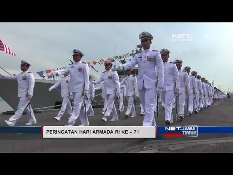 NET. JATIM - RATUSAN PRAJURIT TNI  AL APEL PERINGATI HARI ARMADA KE-71