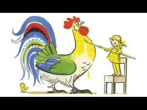 ПЕТУХ И КРАСКИ | сказки для детей, живая картинка | UKA