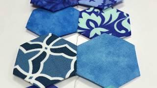 "Patchwork Quilt パッチワークVol.20"" Hexagon quilt ""Quilt process ""Grand mother'sGarden""グランドマザーガーデン"