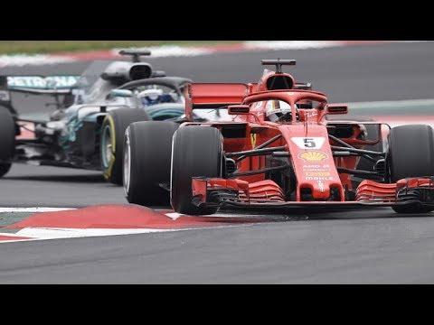 Formula 1 2018 Barcelona Test Mercedes VS Ferrari + SOUND