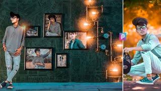 Picsart wall frame photo editing    PicsArt editing    new editing 2018