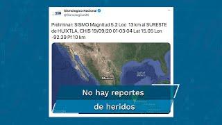 La región norte del continente americano registró dos sismos leves durante las primeras horas de este sábado 19 de septiembre, en puntos opuestos.