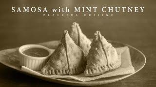 [No Music] How to make Samosa with Mint Chutney