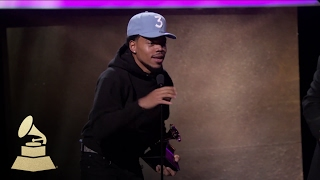 Chance the Rapper Wins Best Rap Performance | Acceptance Speech | 59th GRAMMYs
